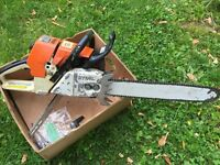 MS 460 Stihl Chainsaw. With Arctic heat feature