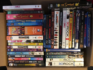 Blue Rays and TV shows for sale most of them brand new still