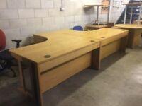 Oak managers desk