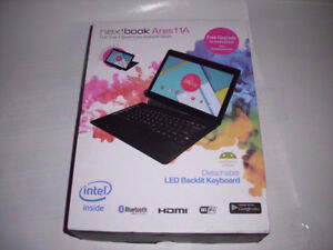 """New Open Box Nextbook Ares 11A 64 GB 11.6"""" 2-in1 Tablet/Laptop"""