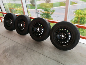 Set of four 5x114.3 rims for Toyota +205/65/15 tires.