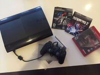 PS3 Console 1 Controller 3 Games