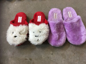 American girl slippers size 3-5 and 7.5-9 $5/pair