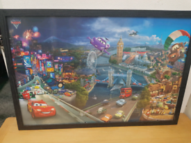 Cars movie framed poster