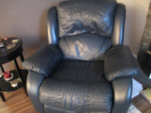 LEATHER ROCKER/RECLINER