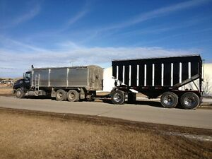 Mack Tandem Grain Truck and 3 Axle Pup Trailer