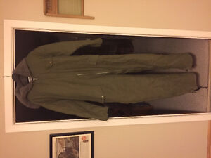Men's Insulated canvas coveralls, size XL