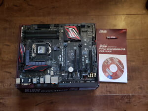 Asus B150 PRO Gaming D3 Motherboard-For Parts