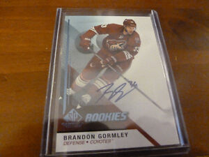 14/15 SP Game Used Rookies Brandon Gormley Auto # 189