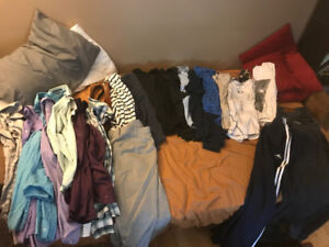 Bag of clothes size large some extra large. Shirts/jeans/dress