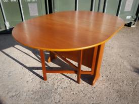 Vintage Mid Century Teak Drop Leaf Dining Table by Jentique