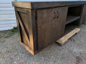 Beautiful 8ft cabinet just built and stained !!