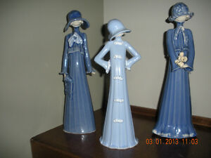 Set of 3 Louise Auger Lladro Type Figurines