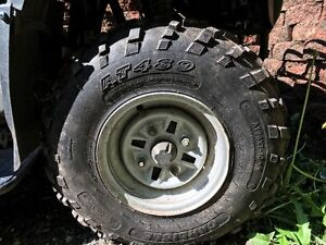 10 inch Quad Tires and Rims, front tires only