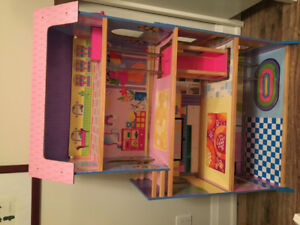 Barbie doll house + furnitures/ Barbie car/ Barbies horses