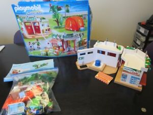 Playmobil Campsite with working shower