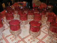 Kings Crown Thumbprint Water Goblets qty. 17