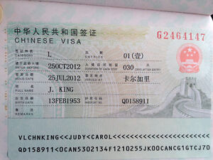 Need a visa to China or US? We do it for you Edmonton Edmonton Area image 1
