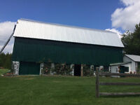 Now hiring! We paint barn roofs factory's & houses & more!