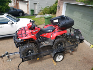 King Quad 750 with trailor