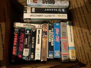 150+ Betamax tapes. Beta tapes. Horror/Action/Comedy