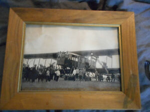 very old framed photo of ww1 russian bomber