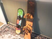 Youths snowboards