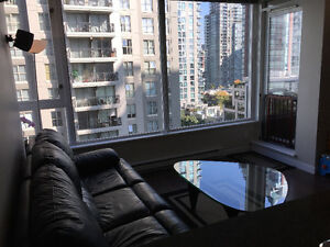 Modern 1 brm and den in Yaletown