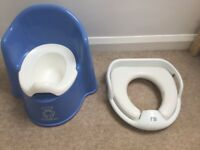 Baby bjorn potty chair and Mothercare toilet seat