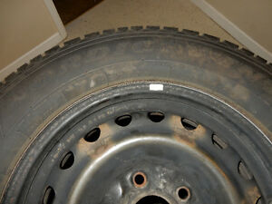 Set of four winter tires and rims for Dodge Caravan 225/65 R16 London Ontario image 3