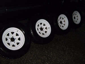 ST 225/75R15 Trailer tires and rims