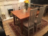 Farmhouse solid wood dining set