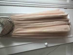 Champagne coloured prom dress