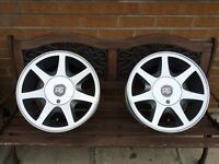 """Ford RS alloys wheels genuine spare 15"""" 4x108 cosworth escort 2000 rally"""
