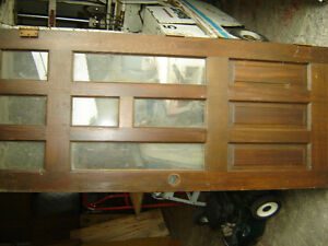 Two used solid wood doors with windows 32x 79.5 doors only Regina Regina Area image 2