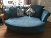 Corner sofa and cuddle sofa