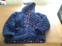 Joules blue jacket with horse motif lining