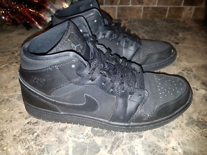 used air jordan 1 black out sz12 only $25.00