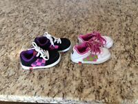 2 pairs of girls LEGO shoes