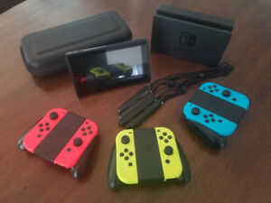 Nintendo Switch - 32GB Gray Console (with Neon Red/Neon Blue Joy