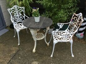 Garden table and chairs rustic looking
