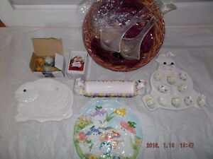 Easter Plates & misc. for sale  Box #1