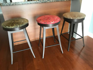 3 custom swivel stools!