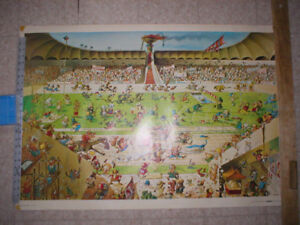 POSTER JEUX OLYMPIQUES OLYMPIC GAMES ANTIQUE COLLECTION AFFICHE