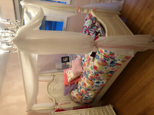 Girls Twin Canopy bed - Price Reduced