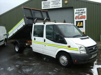 Ford Transit 2.4TDCi Duratorq ( 115PS ) Double cab tipper *Ex council 99k miles*