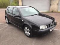 53 reg Volkswagen Golf 1.6 Match Auto Automatic 5 Door Black Metallic