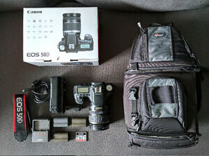 Canon EOS 50D DSLR Camera with Lens and Accessories