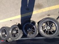 inkei rims with tires