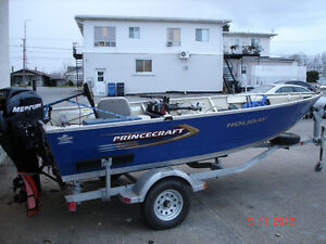 chaloupe princecraft holiday mercury 50 hp 4 temps